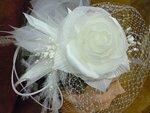 Свадебная шляпка МЭГГИ с перьями
