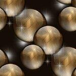 шарики на чёрном фоне