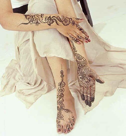 Мехинди - роспись тела хной