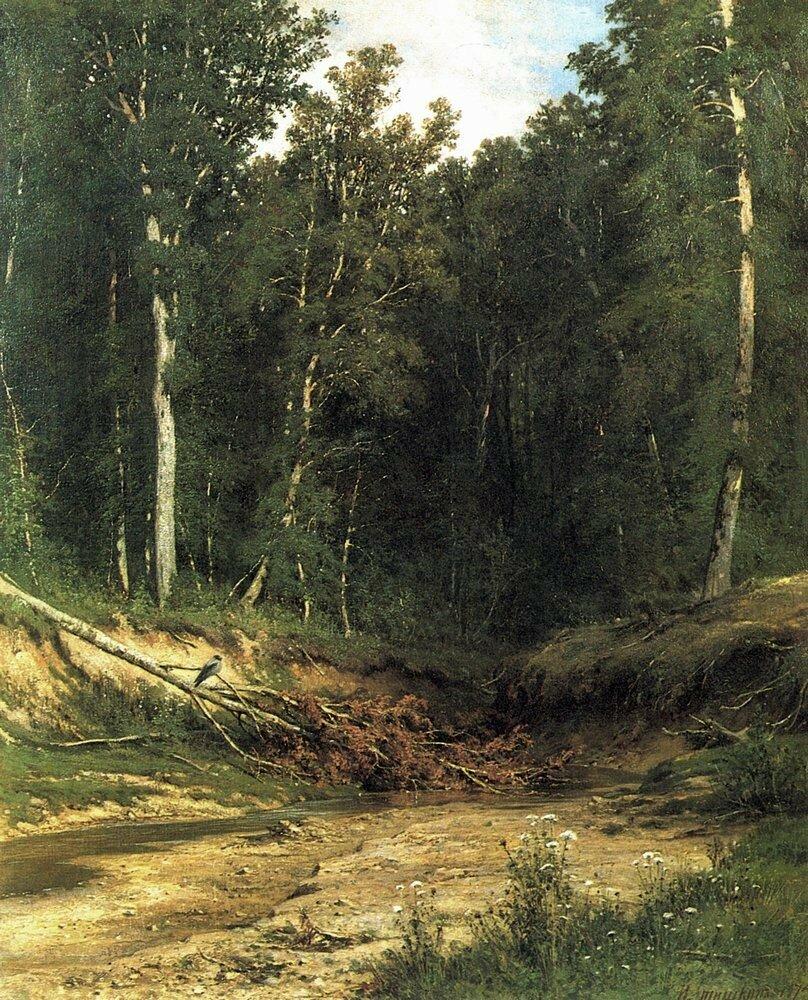 Лесной ручей(Чернолесье). 1874 74,5х61.jpg