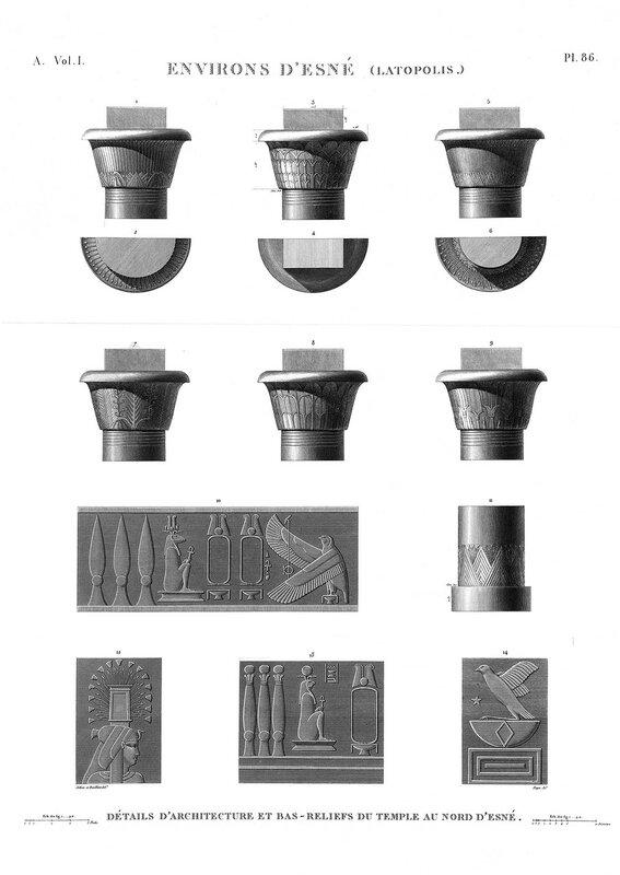 Северный храм бога Хнума в Эсну (Латополь), капители