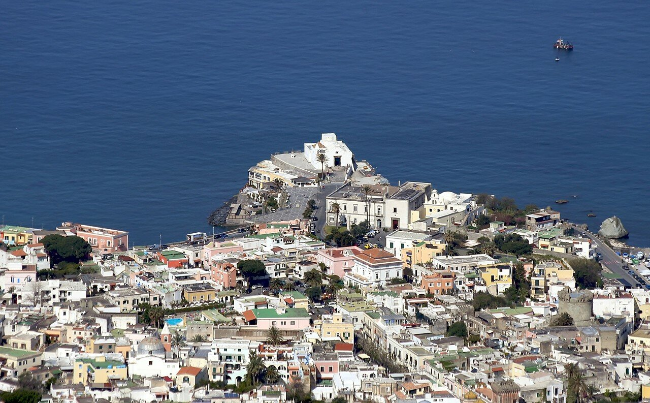 Ischia.Forio from the top of Monte Epomeo