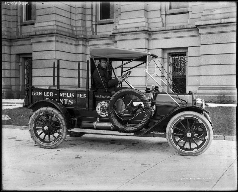 Kohler-McLister delivery truck in Denver, Colorado, between 1910 and 1919