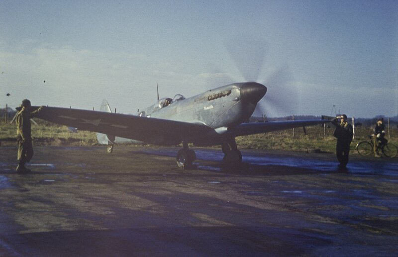 Mark XI Spitfire 'Prescilla', of the 22nd Photographic Squadron, 7th Photographic Reconnaissance Group at Mount Farm