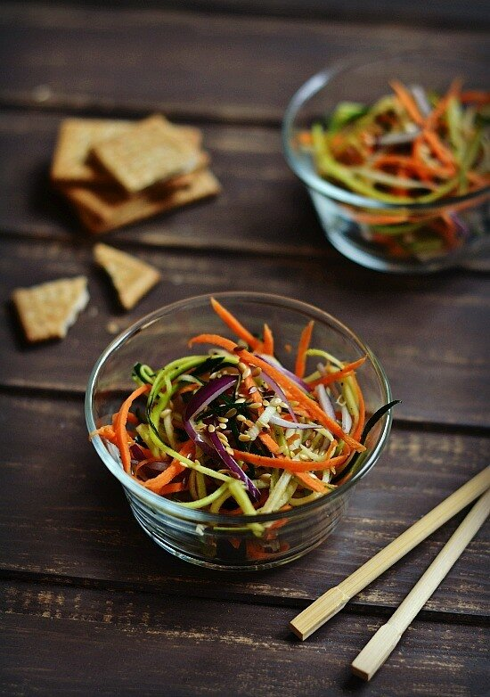 салат с морковью и цукини