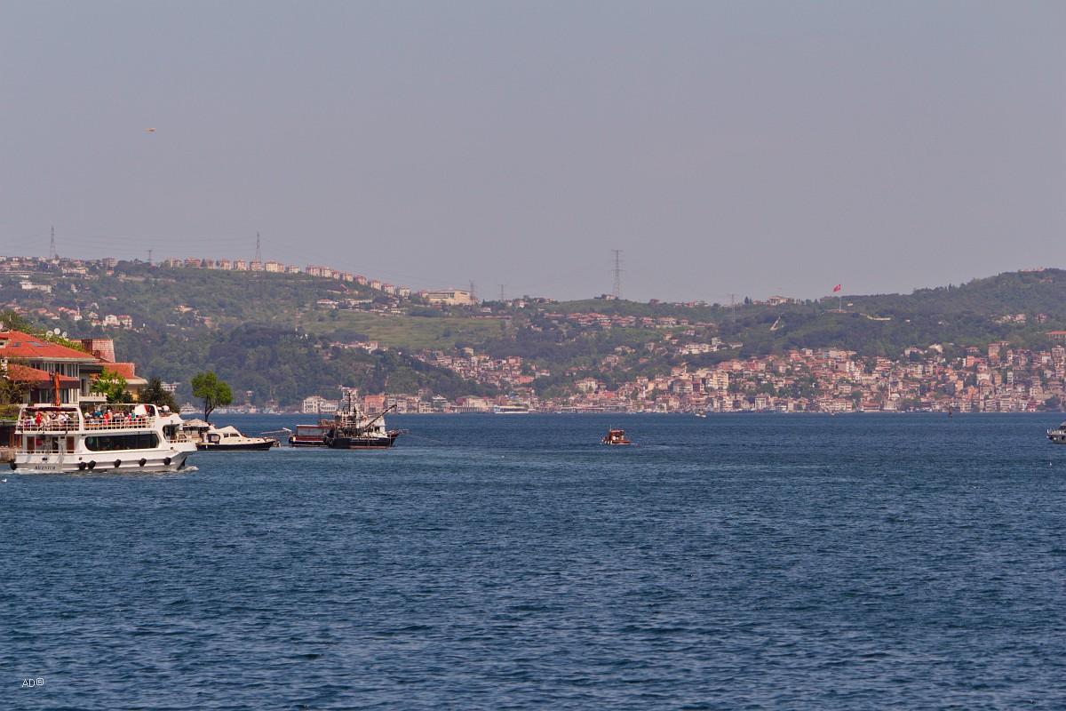Стамбул 2015 - Длинный тур по Босфору - Виды Европейского побережья
