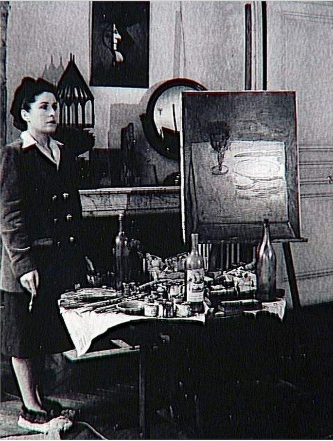 1946. Дора Маар в своей студии, рю де Савойя