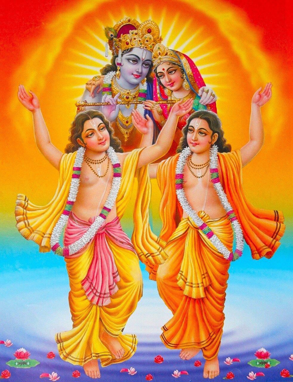 Шри Кришна, Шри Радха, Шри Нитьянанда, Шри Кришна-Чайтанья (Шри Шри Гаура-Нитай)