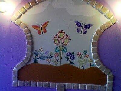 Декор стен с трафаретами