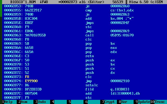 установка intel 5150 в ноутбук ibm x201. изменение bios