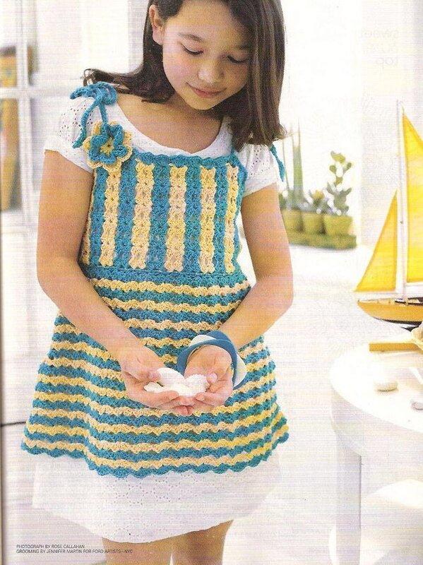 فستان كروشية سهل للبنوتة.كروشية للبنات.كروشية للمبتدئات.فستان كروشية للصيف