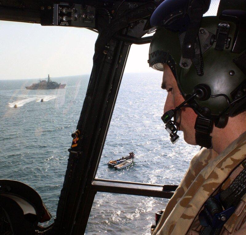 NATO WARSHIP HMS MONTROSE  PREVENTS PIRATE ATTACKS 14/10/2010
