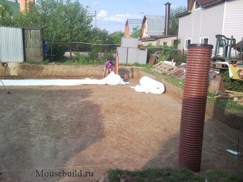 подушка фундамента