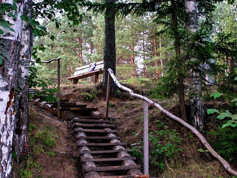 Лестница к озеру своими руками 86