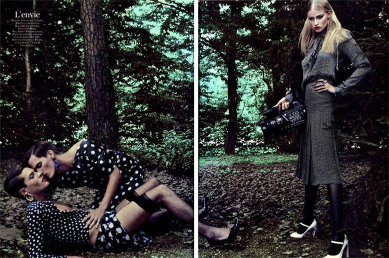 Лара Стоун / Lara Stone by Steven Klein