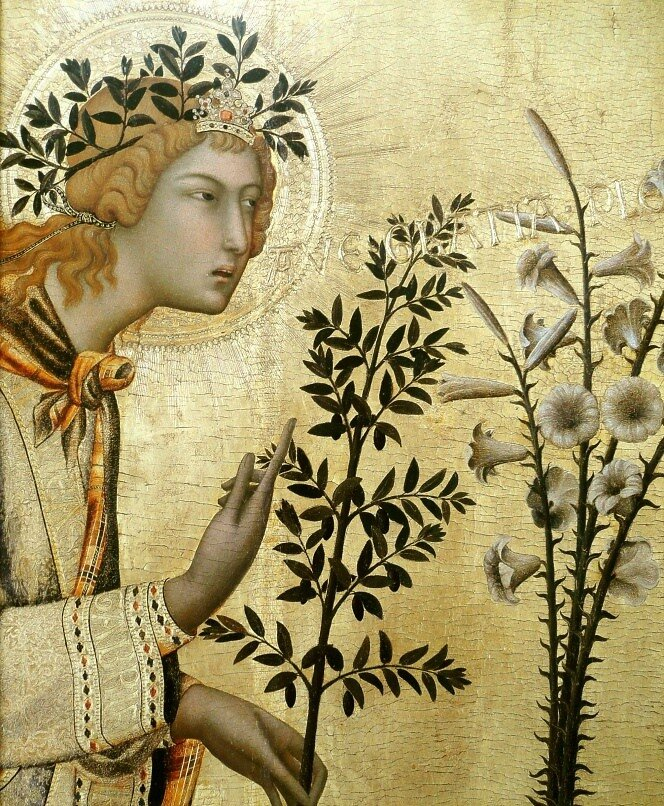 Благовещение ,Simone Martini ( c. 1284 – 1344)