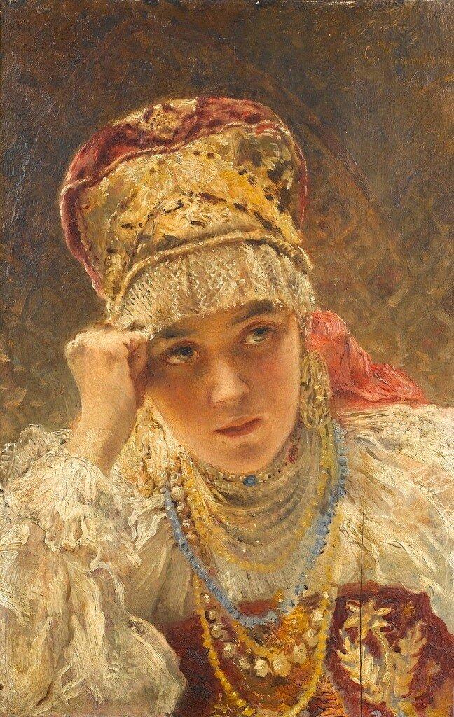 Константин Егорович Маковский,молодая боярыня