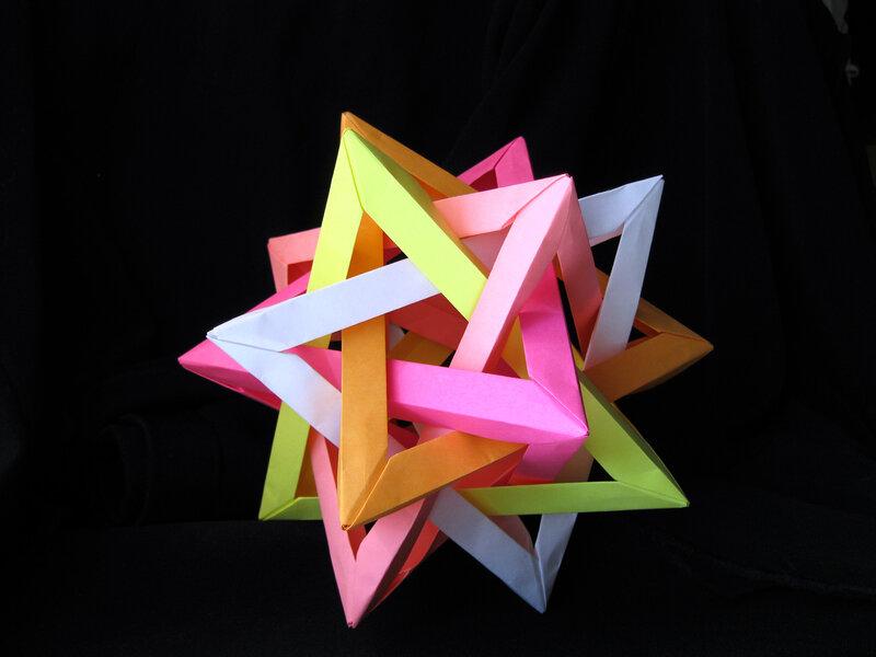Поделки из бумаги тетраэдр оригами 34