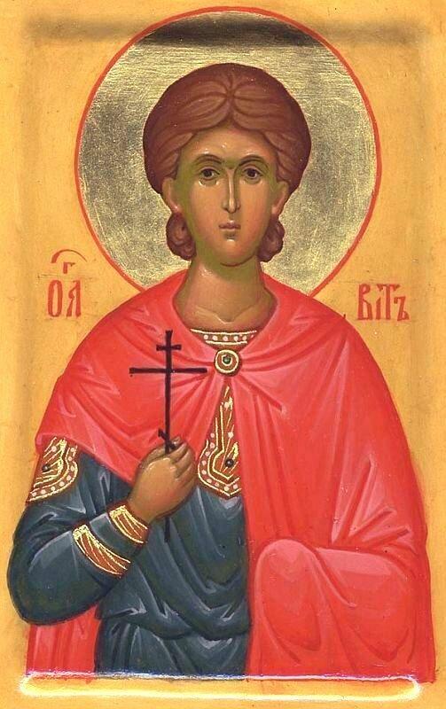 Святой мученик Вит. Иконописец Н. В. Масюкова. Сергиев Посад, 2007 год.