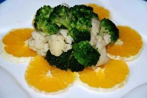 Капуста с апельсинами как салат