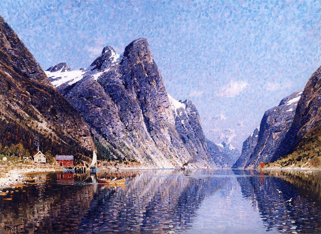 a reflection on a norwegian summers day