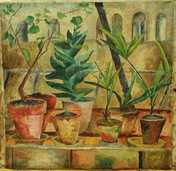 Dora Bromberger (German artist, 1871-1943) Still Life with Plants 1924.jpg