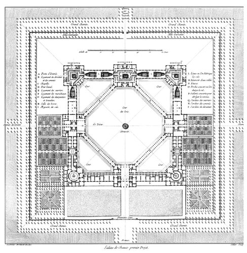 Генеральный план королевских солеварен в Арк-э-Сенан
