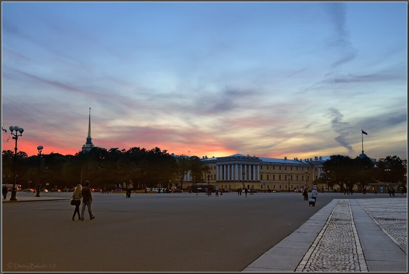 закат на Дворцовой площади