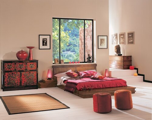 спальня в стиле дзен