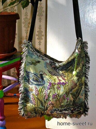 вышивка бисером на сумке