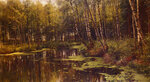 "A Woodland Pond1901Oil on canvas177.8 x 104.8 cm(5' 10"" x 3' 5.26"")Private collection"