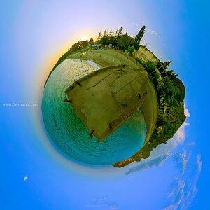 Пирс панорама, Абхазия, город, микропланета, coordinates,маленькие миры