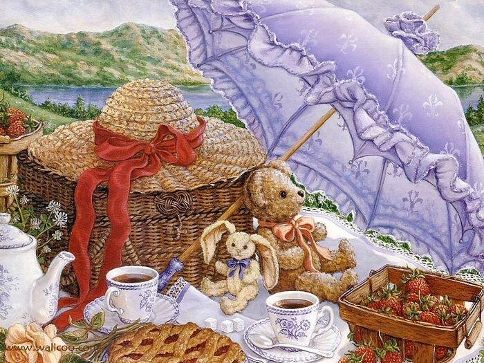 Уютный мир в картинах талантливой художницы Janet Kruskamp (Финляндия)