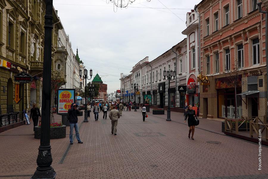 Пешеходная улица Нижнего Новгорода. Большая Покровская