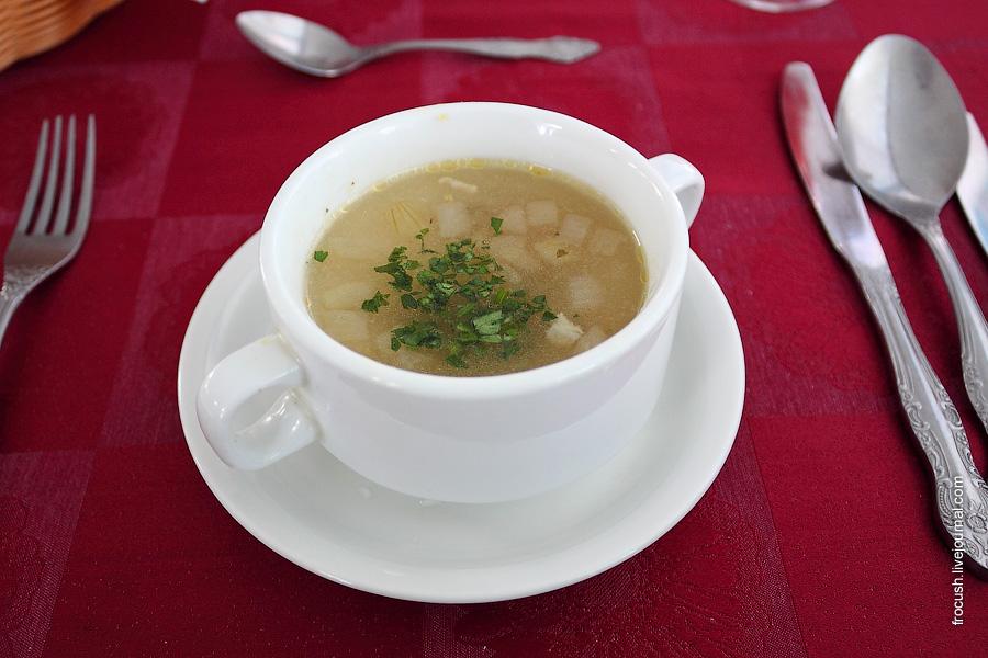 Суп «Полевой» (из свинины с пшеном)