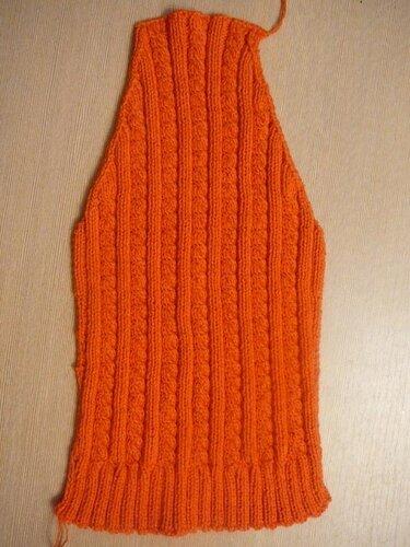 0 45779 9e98cb3 L Оранжевый жакет, вязаный спицами