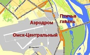 """Омск-Центральный рядом с парком """"Птичья гавань"""""""