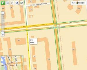 Яндекс-карты ещё и пробки на дорогах показывают