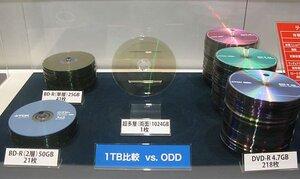 Терабайтный оптический диск фирмы TDK похож на популярные DVD