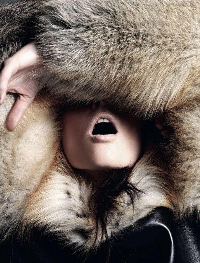 модель Коко Роча / Coco Rocha, фотограф Alan Gelati