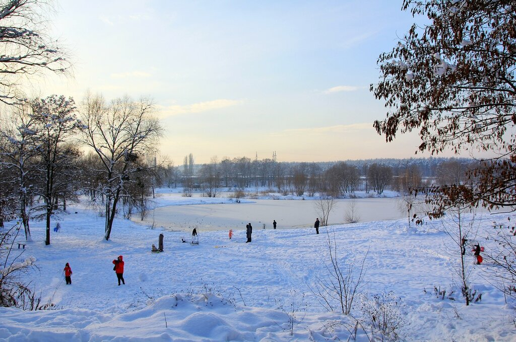 Зима на Синем озере