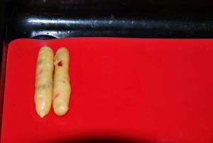 Как сформовать печенье мини-штоллены