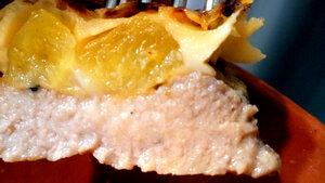 Готовое блюдо из свинины с ананасами
