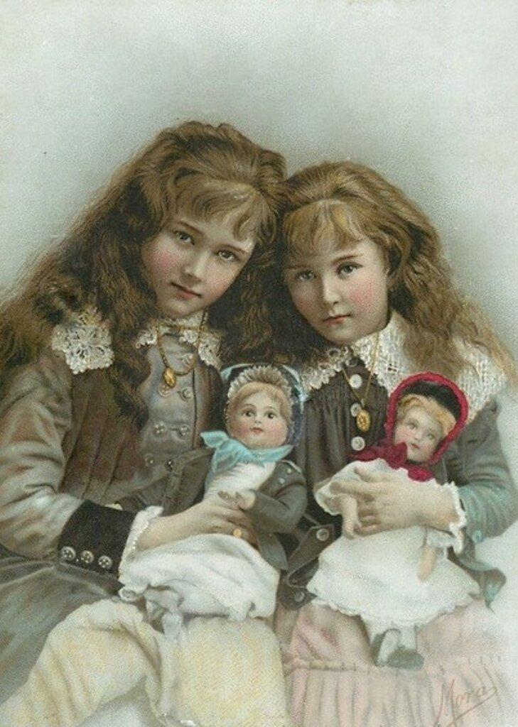 Фото открытки с куклами, картинка весной мужчине