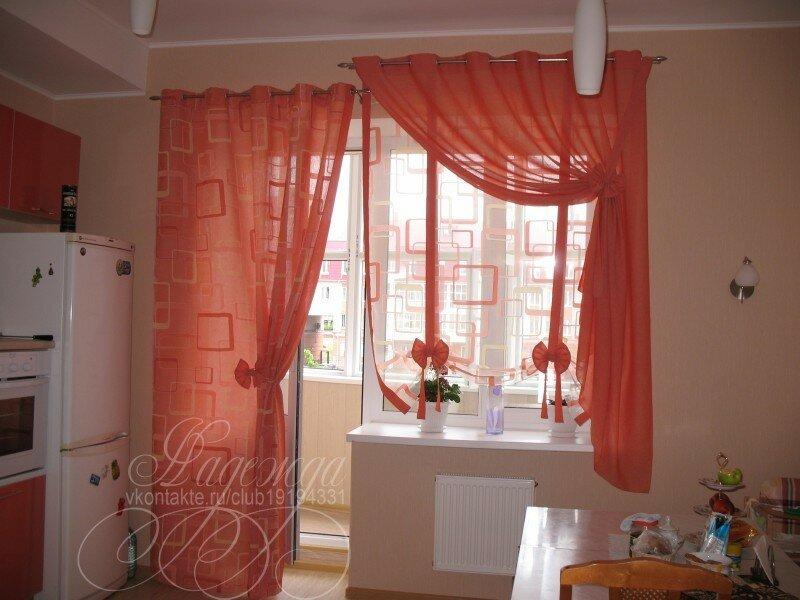 какие шторы подойдут на кухню с балконом фото