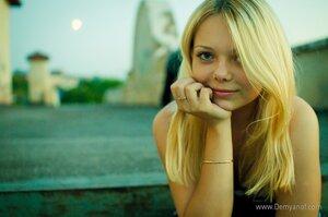 Луна девушка, портрет, город, фотосессия