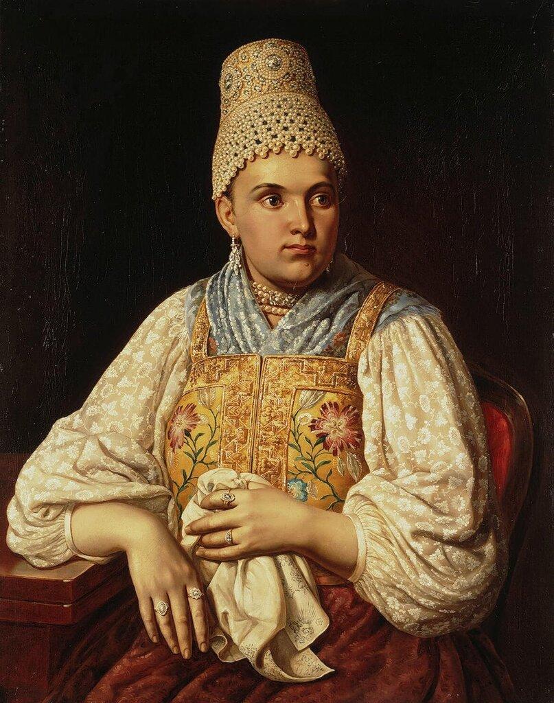 Портрет жены купца, Анны Филатовой.