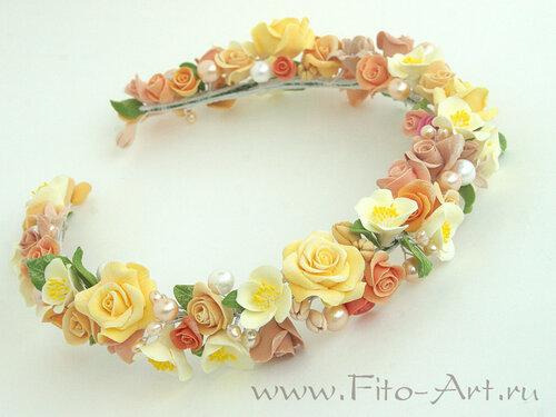 Свадебные цветы для прически невесты