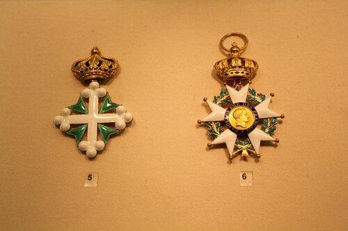 Знак ордена св.Маврикия и Лазаря I класса и Знак ордена Почётного Легиона I степени