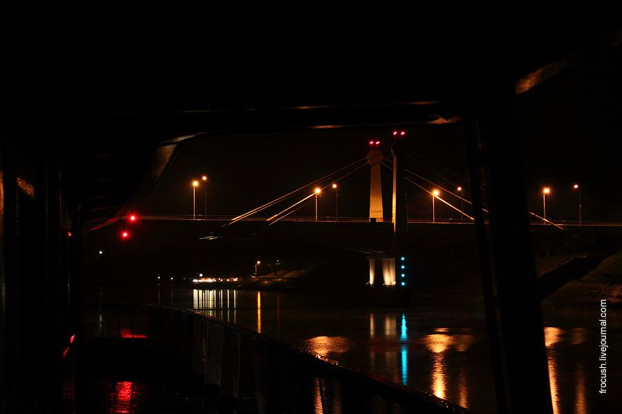 Кимрский автомобильный мост через реку Волгу 29 августа 2010 года